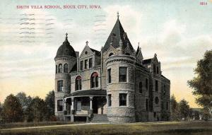 SIOUX CITY, IA Iowa       SMITH VILLA SCHOOL      1910 Postcard