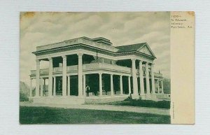 Fort Smith Arkansas St. Edwards Infirmary Postcard Pre-1908 Unposted Man Porch