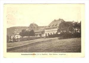 Kesselschlossbaude (721 m Seehohe), Post Giehren, Isergebirge, Czech Republic...