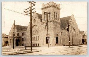 Syracuse NY~South Presbyterian Church~Salina~West Colvin Streets~Homes~1908 RPPC