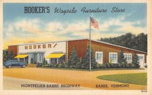 Barre Vermont Hookers Furniture Street View Antique Postcard K104433