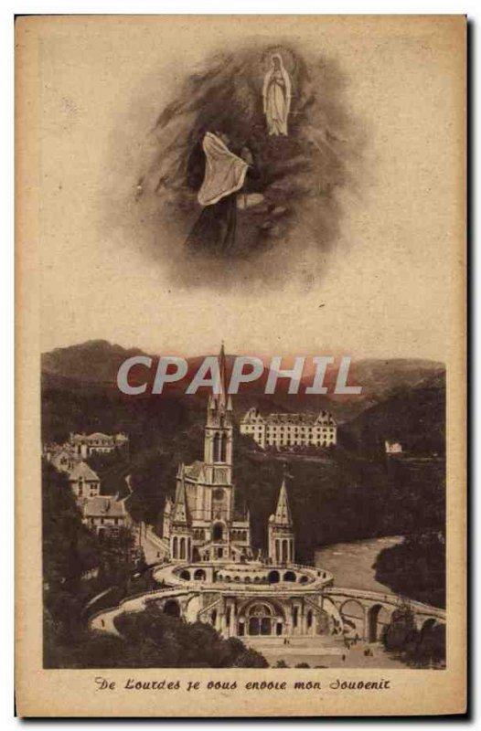 Old Postcard Lourdes I send you my memory