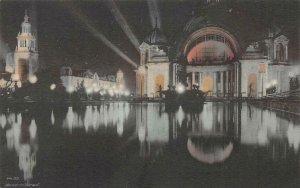 Festival Hall, Night Illumination PPIE 1915 San Francisco Vintage Postcard