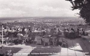 Wien Blick von Hubners Terrassen Restaurant Real Photo Postcard