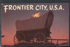 America Postcard - Covered Wagon, Frontier City   RS19776