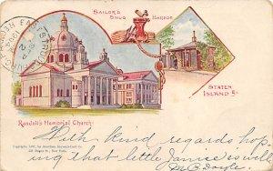 Randall's Memorial Church New York, USA Postcard 1904