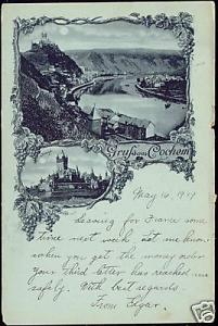 germany, COCHEM, Panorama Multiview (ca. 1899)