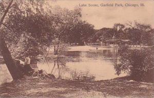 Illinois Chicago Lake Scene Garfield Park