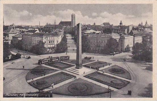 Karolinenplatz. Munchen (Bavaria), Germany, 1910-1920s