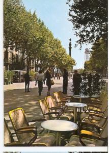 Postal 045857 : Barcelona Rambla de Sta. Monica y Monumento a C. Colon