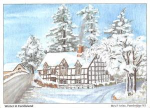 Eardisland Village on the River Arrow Winter