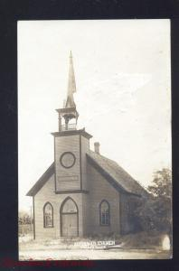 RPPC CHENEY KANSAS REFORMED CHURCH VINTAGE REAL PHOTO POSTCARD 1908