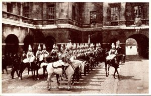 England London Whitehall Changing Guard Royal Horse Guards