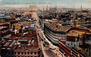 General View Boston  Massachusetts Postcard