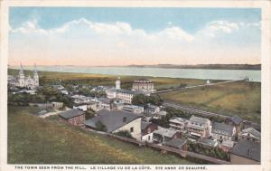 STE. ANNE DE BEAUPRE, Quebec, Canada, 1900-1910's; The Town Seen From The Hill