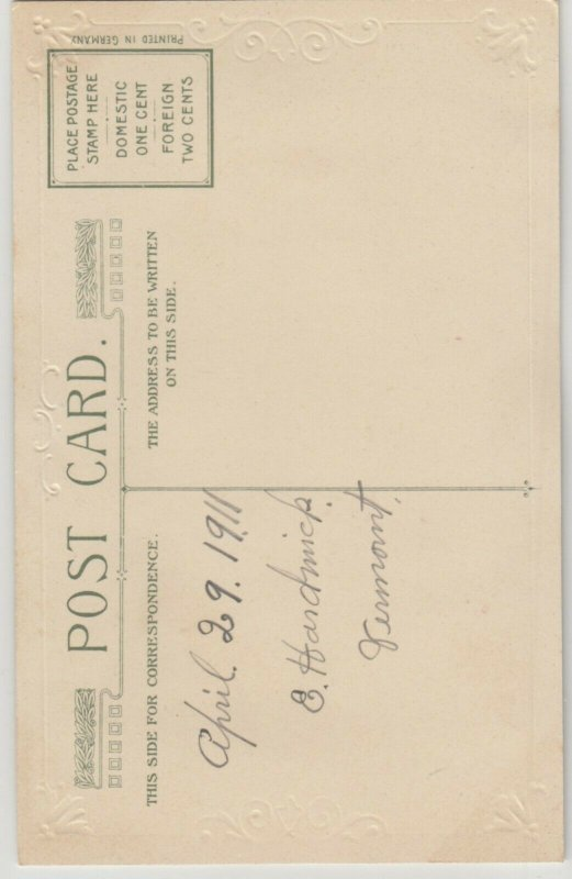 WINSCH BIRTHDAY Booklet  , 1910 ; Carnation Flowers , Note pad inside