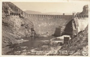 RP, ARIZONA, 30-40s; Roosevelt Dam & Power House as Seen from Apache Trail
