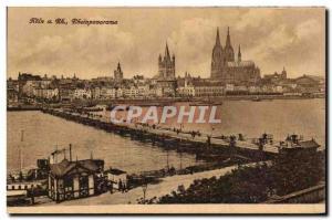 Old Postcard Koln has Rh Rhein Panorama