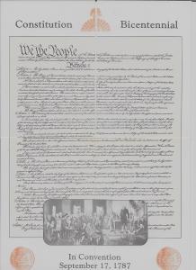 Installlment set of 4 Constitution Bicentennial continental vintage pc (Z10348)