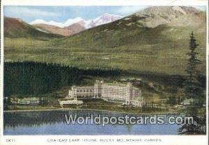 Chateau Lake Louise Rocky Mountains Canada Unused