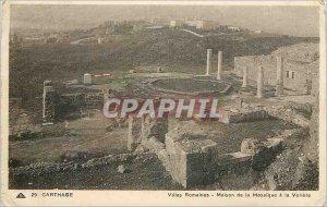 Old Postcard Carthage Roman Villas House of Mosaic has Voliere