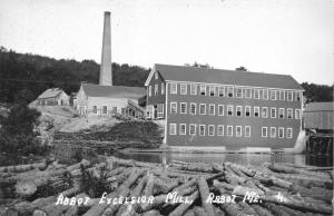 ABBOT MAINE~EXCELSIOR MILL ON PISCATAQUIS RIVER-REAL PHOTO POSTCARD