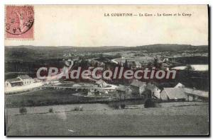 Postcard Old La Courtine The train Gasne And Camp
