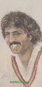 Safraz Nawaz Northamptonshire Cricket Team Player Antique Cigarette Card