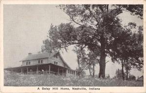 Nashville Indiana Daisy Hill Home Antique Postcard J70806