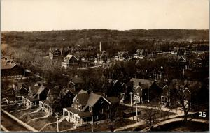 Fort Ft Leavenworth~Officers Houses~Church~Lady on Porch~Bungalows~1918 RPPC WWI