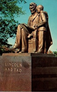 Iowa Des Moines Capitol Grounds Lincoln and Tad