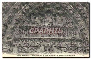 Old Postcard Amiens The Scenes of the Last Judgment