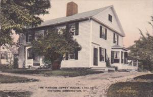 The Parson Dewey House Bennington Vermont Handcolored Albertype
