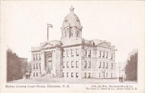 North Dakota Ellendale Dickey County Court House