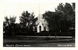 canada, HANNA, Alberta, Court House (1940s) RPPC