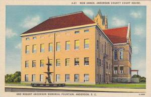 South Carolina Anderson New Annex Anderson County Court House And Robert Ande...