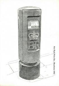 Postcard, New Style Pillar Post Box Illustration, Manchester 1980 81R