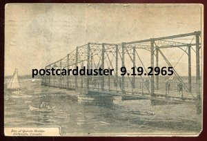 2965 - BELLEVILLE Ontario Postcard 1908 Bay of Quinte Bridge
