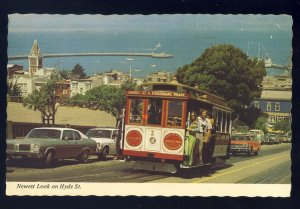 San Francisco, California/CA Postcard, Newest Look On Hyde Street, Cable Cars