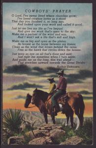 Cowboys Prayer Postcard