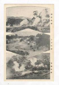 3-view of Hot Springs, Japan, 1910s-20s