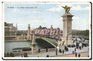 Postcard Old Paris Pont Alexandre III