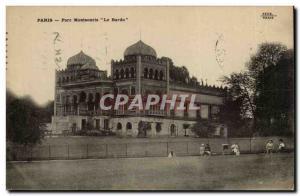 Paris (14) - The Montsouris- Park The Bardo Post Card Old