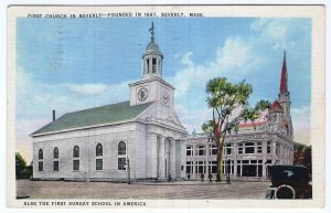 Beverly, Mass, First Church in Beverly & First Sunday School in America