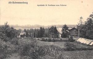 Latvia? Gulbene? Alt-Schwanenburg, Apotheke & Gasthaus zum schwan AK