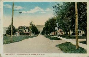 Sugar Hill, New Hampshire Main Street Looking South White Border Postcard