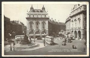 1954 Great Britain, London, Piccadilly Circus, mailed to USA
