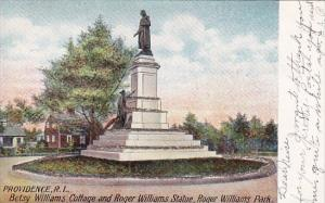 Rhode Island Providence Betsy Williams Cottage And Roger Williams Statue Roge...
