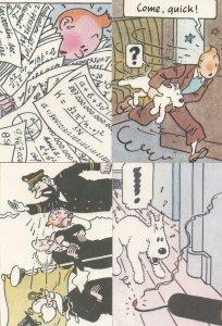Tintin In Trouble Running Away 4x Rare London Postcard s