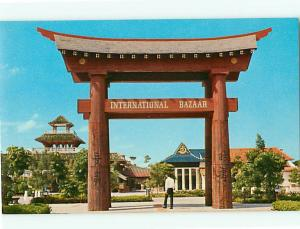 Freeport Grand Bahama Island International Bazaar Gate Entrance  Postcard # 6680